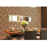 Wholesale 0.53*10m Cheap Price Embossed Floral Wallpaper for Home Decoration , SGS CSA Listed from china suppliers