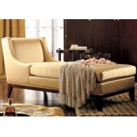 Wholesale Luxury Wooden Chaise Lounge Chairs With Hardwood Frame / Fabric Upholstered from china suppliers