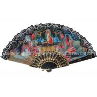Wholesale Spainish Style Design Printed Lace Hand Fans For Promotion , Gift , Souvenirs Special from china suppliers