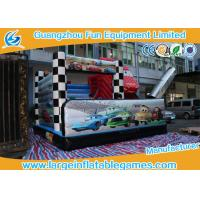 Wholesale 5*5*4M PVC Tarpaolin Inflatable Bouncy Castle Car Theme Slide for kids from china suppliers