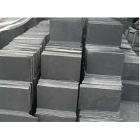 Wholesale Natural Black Slate Stone Tile , Split slate tiles for floor 150*600mm 180*350mm from china suppliers