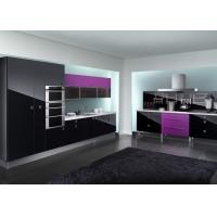 Quality L Shaped Semi Custom Modern Kitchen Cabinets , Flat Door Dark Kitchen Cabinets for sale