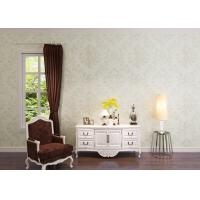 Wholesale Living Room Washable Vinyl Wallpaper , White Damask Pattern Wallpaper from china suppliers