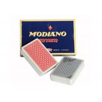 Wholesale Italian Plastic Ramino Bridge Super Flori Marked Poker Cards Red Blue Index from china suppliers