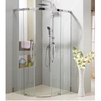 Buy cheap Sector sliding shower door with stainless steel #304 frame,S.S.#304 handle from wholesalers