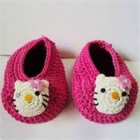 Wholesale 100% wool Warm Hand crocheted baby shoes, knitted baby products for Autumn, Winter from china suppliers