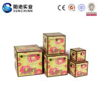 Buy cheap Warm Colored Canvas/Linen Printing Wooden Box/ Suitcase/ Wedding Card Box for Storage from wholesalers