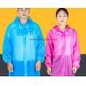 Buy cheap Transparent Raincoat Women Men Portable Outdoor Travel Rainwear Waterproof Disposable Camping Hooded Ponchos Plastic from wholesalers
