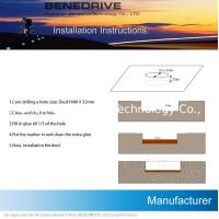 Polycarbonate Solar Delineator , Motor Way Embedded Solar LED Road Markers