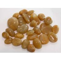 Wholesale yellow  polished pebbles ,yellow river stones, yellow  loose pebbles from china suppliers