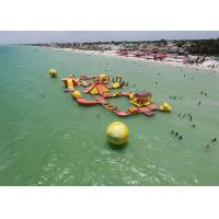 Wholesale Mayan Beach Inflatabled Aqua Park / Floating Obstacle Course For Rental from china suppliers