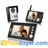 "Wholesale Double Vision Guardian - 1/4"" CMOS Wireless Video Door Phone w/ Two Indoor Screen Receivers from china suppliers"