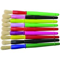 Quality 9 Colors Plastic Handle Paint Brushes , Colorful Watercolor Paint Brush Set OEM Avaliable for sale