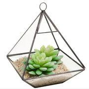 Wholesale 2016 new hanging clear glass prism air plant terrarium tabletop succulent plants holder from china suppliers