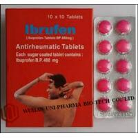 Wholesale Western Medicine Ibuprofen Coated or Film Coated Tablets BP 400mg Antipyretic and analgesic drugs from china suppliers