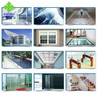Wholesale 3 4 5 6mm Clear Tempered Glass Panels Flat / Curved Shaped With High Safety from china suppliers