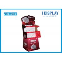 Supermarket Cardboard Merchandising Displays , Custom Cardboard Floor Display Stands