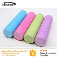 Quality 90cm high density eva foam roller with dot design rounded edges for sale