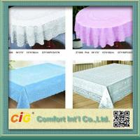 Wholesale Elegant Patterned Lace Round PVC Table Cloths  For Home , Hotel , Picnic or Restaurant from china suppliers