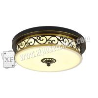 Buy cheap Glass Material Modern Ceiling Light Hidden Camera For Long Distance Infrared Playing Card Scanner from wholesalers