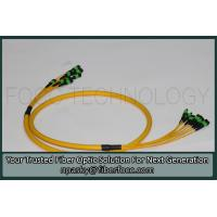 Buy cheap MTP MPO Multiple Fibers OS2 Singlemode Breakout Patch Cable Yellow Jacket from wholesalers