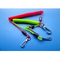 Quality 3.0mm / 4.0mm Spring Safety Tool Lanyards With Zin Alloy Swivel Hooks for sale
