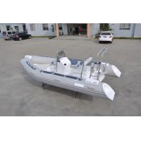 Wholesale PVC Small Inflatable Fishing Boats Rib430 Light Grey With Inflatable Tube from china suppliers