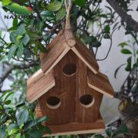 Wholesale Wood product » Wood birdhouse » Cedarwood Birdhouse with Three Holes from china suppliers