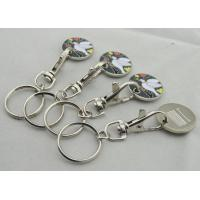 Animel Enamel Trolley Coin, Iron Shopping Trolley Coins with Soft and Key Chain