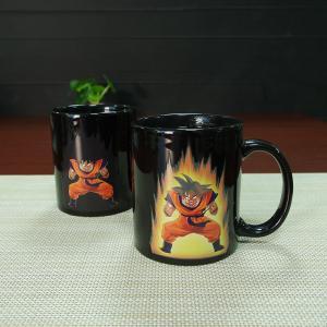 Buy cheap Heat Sensitive Color Changing Mugs Yellow Goku Dragon Ball Magic Mug Coffee Mug Decoration from wholesalers
