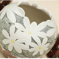Wholesale Ceramic three-piece home furnishing articles vase handmade chrysanthemum from china suppliers