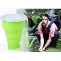 Wholesale Durable 8 Oz Outdoor Silicone Folding Cup , Silicone travel mug with PP lid from china suppliers