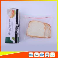 Wholesale OEM Zipper Top Plastic Sandwich Bags Biodegradable For Fresh Keeping from china suppliers