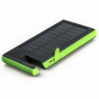 Wholesale Silicon Real High Power 8000mAh Polymer Battery Dual USB Waterproof Solar Power Bank with phone holder from china suppliers