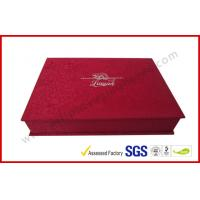 Wholesale Luxury Silk Gift Packaging Boxes Customized Silver Hot Stamping Logo from china suppliers