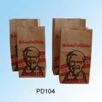 Wholesale Kraft Fast Food Paper Bags / Take Away Paper Bags For McDonald'S KFC from china suppliers