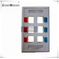 Wholesale 6 Ports Network US Type RJ45 Faceplates For Network Keystone Jacks ABS Ethernet Face Plate from china suppliers