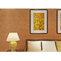 Wholesale 0.53*10m Mica Wall Covering / Non - Woven Living Room Modern Wallpaper Yellow Color from china suppliers