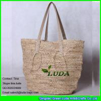 Wholesale LDLF-007 natural hand crochetting raffia straw tote handbags from china suppliers