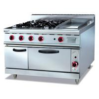 Wholesale Energy-saving Electric 380V Stainless Gas Range With Griddle 4.8KW for Cooking from china suppliers