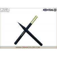 Buy cheap Black Retractable Eyeliner Pencil , Golden Cap Automatic Eyeliner Pencil from wholesalers