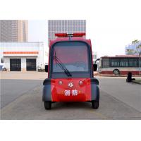 Wholesale 2 Seater Mini Electric Fire Fighting Truck With Alarm Lights CE Approved from china suppliers