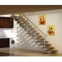 Wholesale Stainless Steel Straight Staircases , Laminate Tempered Glass Steps from china suppliers