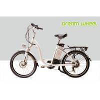 "Wholesale 48V 500W 32 km/h City E Bike 24"" Wheel Womens Cruiser electric Bicycles Blue / Silver / Red from china suppliers"