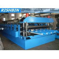 Wholesale Blue Galvanized Floor Deck Roll Forming Machine with 45 # Steel 22kw  380V from china suppliers
