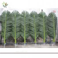 Wholesale UVG Wholesale Outdoor Ornaments Plastic Artificial Palm Tree Leaves with Green Color from china suppliers