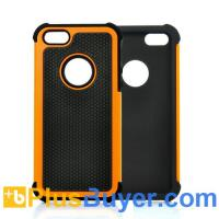 Wholesale Orange Case for iPhone 5 - Rugged Hard Plastic and Silicone from china suppliers