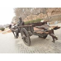 Quality antique chinese bronze people and carriage sculpture for sale