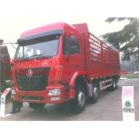 Wholesale SINOTRUK HOWO 8x4 Heavy Cargo Trucks / Diesel Box Stake Truck , STRONGEST TRACTOR from china suppliers