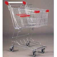 Wholesale Mini Steel Mesh Supermarket Shopping Cart Zinc Plated 60 Litres from china suppliers